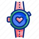 app, device, healthy, heart, rate, smartwatch, watch icon
