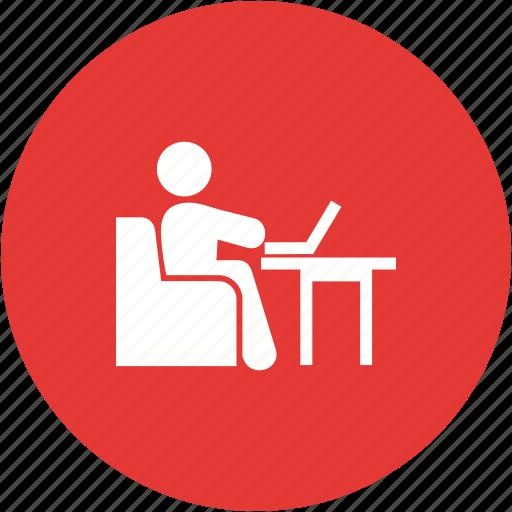business, businessman, computer, laptop, technology, work, working icon