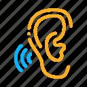 aid, device, hearing, hears, human, sense, sound
