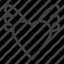heart, love, romantic, wings