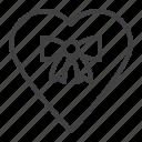 gift, heart, love, ribbon bow, tied