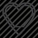 energy, heart, level, love icon