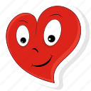 emoji, emoticon, happy, heart, love, valentine, valentines icon