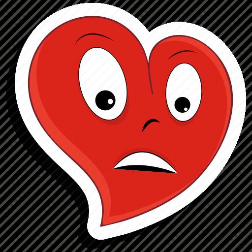 depressed, emoji, heart, love, sad, valentine, valentines icon