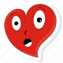 emoji, emoticon, heart, love, pain, valentine, valentines icon