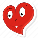 emoticon, happy, heart, love, smile, valentine, valentines icon