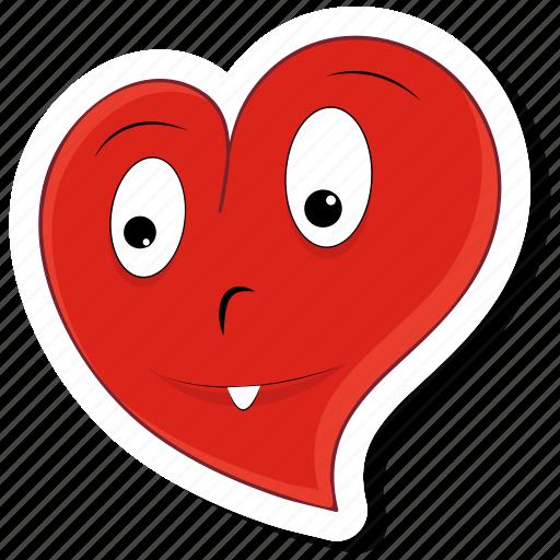 emoticon, happy, heart, love, smile, valentine, valentines icon