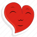 emoji, emoticon, happy, love, smile, valentine, valentines icon