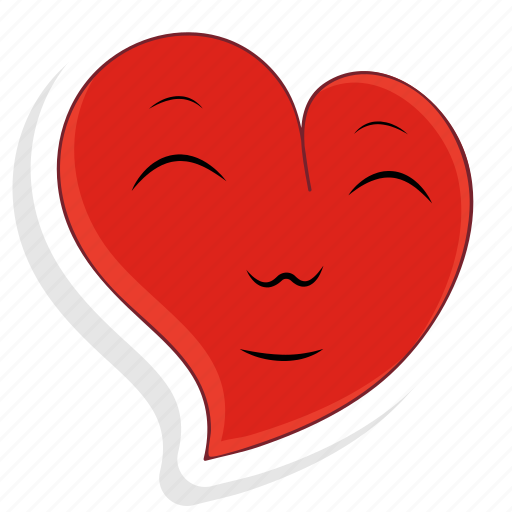 emoji, emoticon, happy, love, smile, valentine, valentines icon
