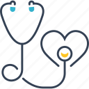 defect, disesaes, heart, stethoscope icon