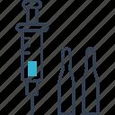 defect, heart, needle, syringe icon