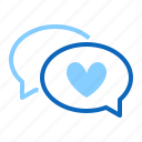 chart, dating, heart, love, message icon