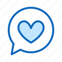 chart, favourite, heart, love, message icon