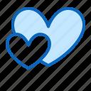 hearts, love, two, valentine icon