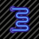 heating, rail, snake, bathroom, heated, radiator, towel icon