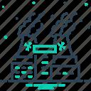 chimney, hazardous, nuclear plant, pollution, power, smoke, thermal icon