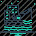 development, drilling, extraction, fuel, offshore platform, oil platform, petroleum icon