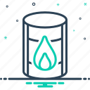 chemical, container, crisis, diesel, oil barrel, refinery, tanker icon