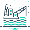 development, drilling, exploration, extraction, fuel, offshore, oil platform icon