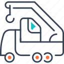 equipment, frieght, heavy, transport, truck icon