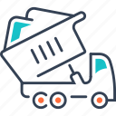 equipment, frieght, heavy, transport, truck, works icon