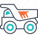equipment, frieght, heavy, truck, wagon icon