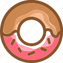 donut, eat, food, ingredients, meal, restaurant, sweet icon