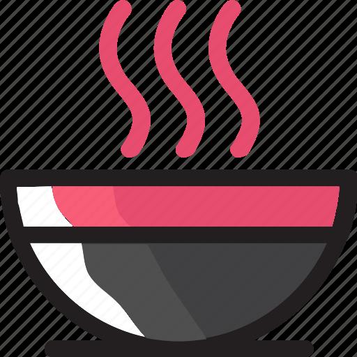bowl, eat, food, hot, ingredients, noodle, restaurant icon