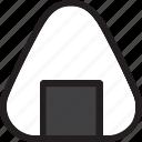 eat, food, ingredients, japanese, onigiri, restaurant icon