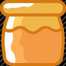 bee, eat, food, honey, ingredients, jar, restaurant icon