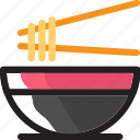 chinese, chopstick, eat, food, ingredients, noodle, restaurant icon