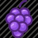 eat, food, fruit, grape, ingredients, restaurant, wine icon