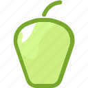 eat, food, fruit, ingredients, pear, restaurant icon