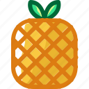eat, food, fruit, ingredients, pineapple, restaurant, sweet icon