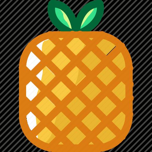 eat, food, fruit, ingredients, pineapple, restaurant, sweet icon