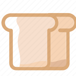 bread, carbohydrate, eat, food, ingredients, restaurant, wheat icon