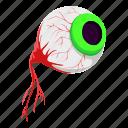 blood, eye, helloween, zombie icon