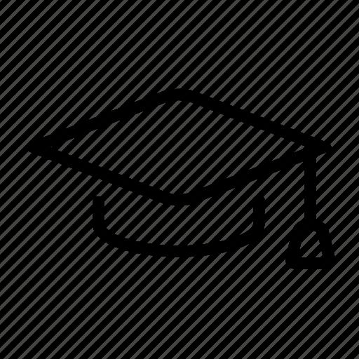 hat, school, student icon
