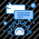 bubble, comment, configure icon