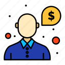 help, money, question, support icon