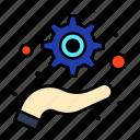 management, optimization, support icon