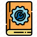 manual, wrench, guide, user, book, menu, user manual