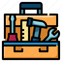 wrench, technical, service, edit, tools, box, repair