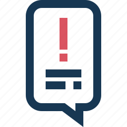 attention, chat, information, instruction, support icon