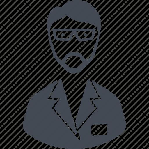 chemist, chemistry, man, scientist icon