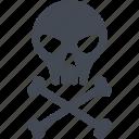 bones, chemistry, danger, experiment, skull icon