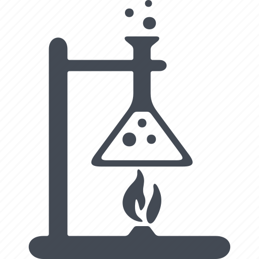chemistry, experiment, flask, laboratory, tripod icon