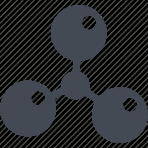 chemistry, experiment, laboratory, molecule, science icon