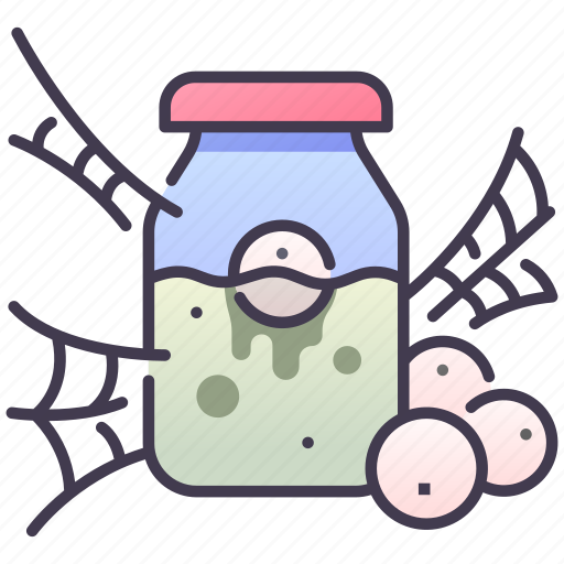 Bottle, doll, eye, herror, potion, scary icon - Download on Iconfinder