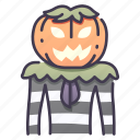 autumn, evil, halloween, head, man, october, pumpkin icon